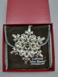 1984 Gorham Sterling Christmas Snowflake Ornament Excellent W/box And Bag