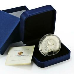 Niue 1 Dollar Kuzbas Coal Mines Series Statue Of A Worker Proof Silver Coin 2012