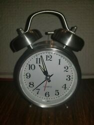 Old Fashion Loud Clock with Large Numbers White Face amp; Black Numbers
