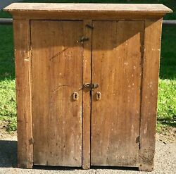 19th C. Antique Country Primitive Farmhouse Jelly Cabinet / Cupboard