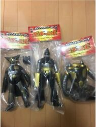 medicom Toy Getter Robo Dynamic Heroes Black And Gold Lot Of 3 Figure