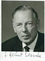 Helmut Lemke Autograph Ministers President Of Schleswig-holstein 1963-1971 Sign