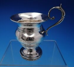 Scottish Sterling Silver Baby Cup With Applied Handle And Footed Base 4684