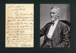 American Civil War Jefferson Davis Autograph Letter Signed And Mounted