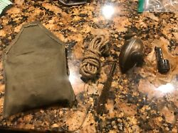 Ww2 Soviet Russian Mosin Rifle Gun Two-spout Oiler Oil Flask And Canvas Pouch