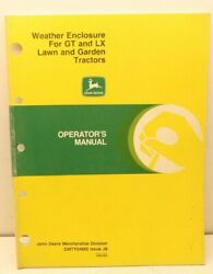 John Deere Weather Enclosure Gt Lx Lawn Tractor Operator Manual English And French