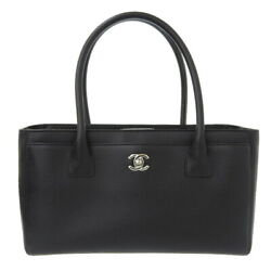 Auth Leather Coco Mark Executive Tote Bag 19s