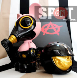 Ron English X Made By Monsters Jps Mouse Mask Murphy Chained Smiley Grin Gold