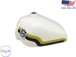 Husqvarna White Painted Yellow And Blue Line Steel Tank 1982-1983|fit For