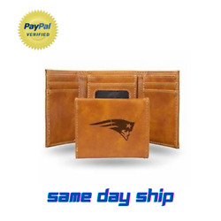 Official Nfl Leather Wallet Trifold Embossed New England Patriots Licensed
