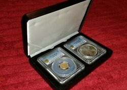 Gold Coins 1/10 Oz 2020 Ms69 And Silver Eagle Ms67 Comes With Case