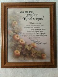 You Are The Apple Of Godand039s Eye Wood Framed Print 10x12 Wallhanging Psalm 178