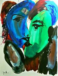 Jenik Cook-the Kiss-le Hand Embellished Giclee/stretched Canvas/hand Signed/loa