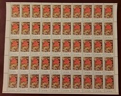 Canada Stamp 537ii Autumn 1971 7 Cents Hb Sheet Of 50 Mint Vfnh