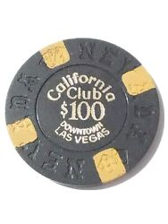 1970 California Casino Las Vegas Nevada 100.00 Chip Great For Any Collection