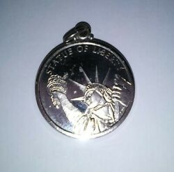 Vintage Sterling Silver Charms For Bracelets Statue Of Liberty 925 Chemical Bank