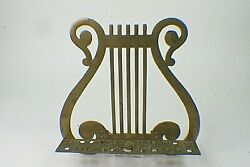 Vintage Solid Brass Harp Style Sheet Music Book Holder Top Only No Stand