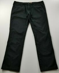 Red Snap Men's Chino Pants 40 X 32 Black Flat Front Zipper Fly Pockets Casual