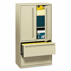 700 Series Lateral File With Storage Cabinet 36w X 18d X 64.25h Putty
