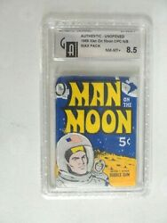 Vintage Topps Opc Man On The Moon Trading Cards Wax Pack Graded 8.5 Nm/mt+