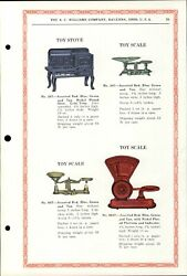 1934 Paper Ad A. C. Williams Toy Royal Stove Range Oven Dayton Scale Balance