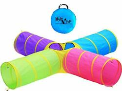 Hide N Side Kids Play Tunnel Indoor Outdoor Crawl Through Tunnel For Kids Dog