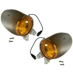 19701974 Challenger Parking Light Assembly Amber Lens Pair Right And Left Side