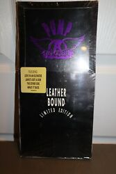 Sealed New - Pump By Aerosmith Long Box Set Cd 1989 Leather Bound Limited