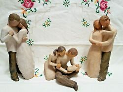 Lot Of 3 Vintage Willow Tree Promise, Together, New Life Figurines Susan Lordi