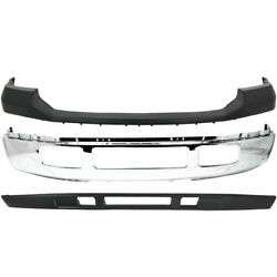 New Front Upper And Lower Bumper Chrome For Ford Super Duty F-250 F-350 2005-2007