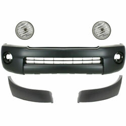 New Front Bumper Cover Textured Extension And Fog Lamp For Toyota Tacoma 2005-2011