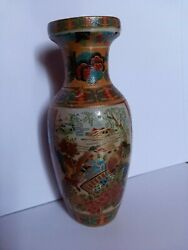 Antiques Large And Old Porcelain Vase Handmade In Lebanon