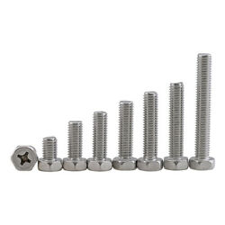 Phillips Drive Bolts Hex Head Screws With M3 M4 M5 M6 M8 A2 304 Stainless Steel