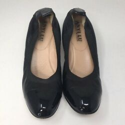 Anyi Lu Heels Shoes Pumps Soft Black Patent Leather Italy 39.5
