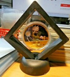 Naruto Anime Gold Metal Coin Card Carte Medal Piece With Display 4 Neuf Mint