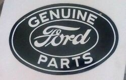 Ford Double Sided Porcelain-coated Sign Car Auto Shop Garage