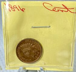 1896 Indian Head Small Cent Choice Bu Ms+ Wow Free Shipping Make Offer