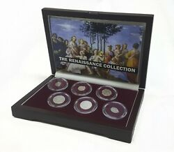 Renaissance Coin Collection Boxed Set Of Six Silver Coins