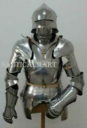 Costume Knight Suit Of Armour Wearable Reenactment Breastplate With Helmet