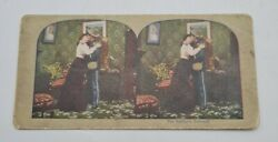 Antique Stereoview Card Photograph - Us Civil War The Solders Farewell