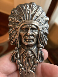 Rare Antique Sterling Silver Indian Chief Letter Opener Kerr