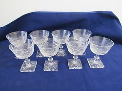 Edinburgh Crystal Champagne / Sherbet Glasses - Edi35 Set Of 8 Scotland 4 5/8