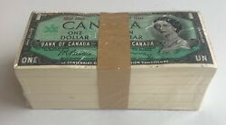 Bank Of Canada 1 1967 - Sealed Bank Lot Of 500 Notes