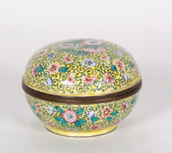 Box Chinese Candy Bowl In Cloisonné Enamel China Vintage 20th Century