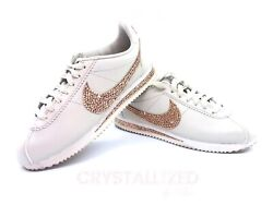 Any Color Crystallized Nike Sneakers Women W/ Crystals Rose Gold Bling