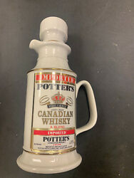 Vintage Potter's Canadian Whisky Whiskey Bottle Decanter Don Schreckengost