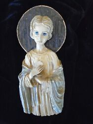 Vintage Young Jesus Holy Communion Plaque With Alter Bread And Wine French