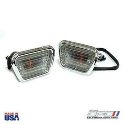 1968 Mustang Side Marker Lamp Assembly Set, Lh And Rh Side Pair, Incl. Hardware