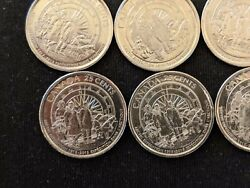 2013 1913- Canadian 25-cent Arctic Expedition 100th Anniversary. 6 Coins Lot