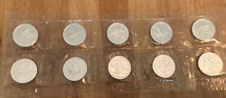 10x Silver Maple Leaf 1oz Coins 9999 Fine Silver, Rare Sealed From Mint, 2005